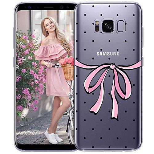 OOH!COLOR Cover con motivo MPA148 Per telefono Samsung Galaxy S8 Case elastico trasparente protettivo astuccio con motivo puntini neri motivo delicato