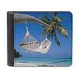 Hamaca de playa de cuero PU cartera embrague, puede acomodar tarjetas de crédito, efectivo, etc. DIY bolso personalizado, caja de la tarjeta de crédito de la moda