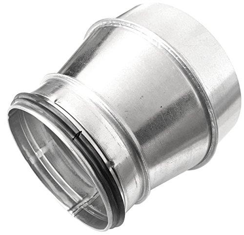 Wickelfalzrohr Reduzierung Muffe DN 80 100 125 150 160 180 200 250 mm auf Nippel mit Doppellippendichtung (DN 200 / DN 160)