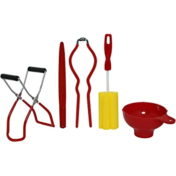 Roots & Branches Five-Piece Home Canning Kit, small, Red