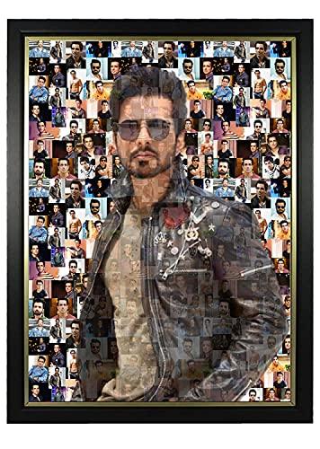 Plasto Birthday For Husband Personalized Photo Frames, Personalised Frame, Collage Photo Frame, Customized Mosaic Photo Frame Home Decor Item Matt Finishing 12 X 18 inch (Black Frame)