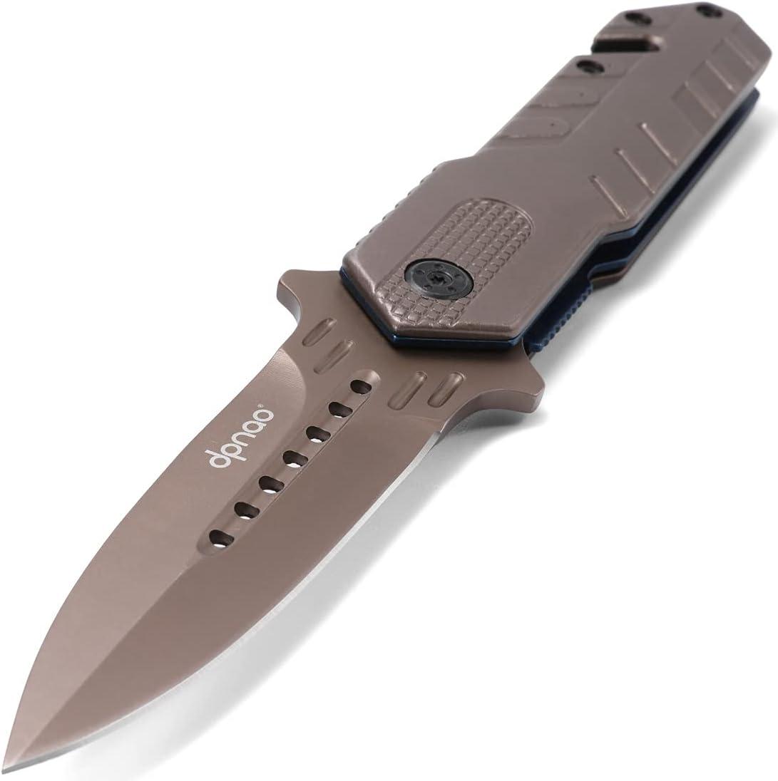 dpnao Folding knife Portable Pocket Escape Emergency Survival Glass Breaker Reversible Clip Good for Camping