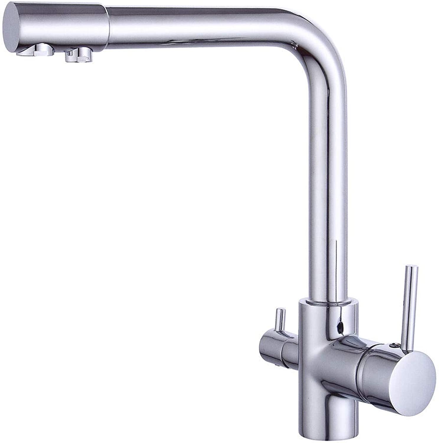 OUKANING 4 Way Tap 3 in 1 Faucet Osmosis System Water Filter Kitchen Tap