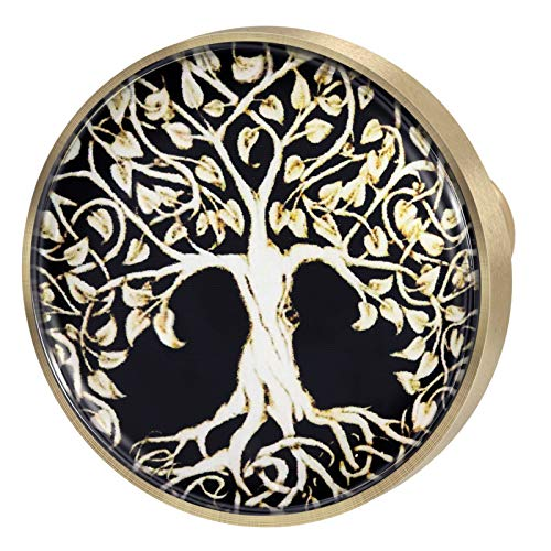 Yatming 4 PC Tree of Life Crystal Glass Cabinet Knobs, Decorative Drawer Handles Pulls for Home Office
