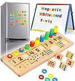 XFDZSW MALL 3 en 1 Juegos Educativos Magnéticos de Madera para Mujeres Juguetes de Madera Niños Magnéticos para Niños Pequeños Niños Que Aprenden Rompecabezas Educativos A Partir de 3 Años