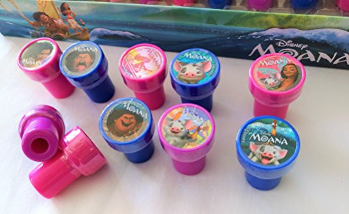 Disney Moana Self-inking Stamps Birthday Party Favors 30 Pieces