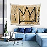 The Crown Jean-Michel Basquiat Print Series Tapestry Wall Art 3d Poster Theme Party Decor For Living Room,Bedroom,Home,Dorm Room 60x40 Inch