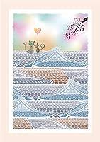 和柄絵はがき【甍の上の恋】( POSTCARD ) (サイズ:100 x 148mm 大礼紙厚口180k 厚み:0.26mm)日本製 (1)