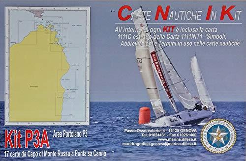 Istituto Idrografico della Marina Carte NAUTICHE Mar TIRRENO. Kit P3A. 17 Carte Capo di Monte RUSSU A Punta SA Canna.