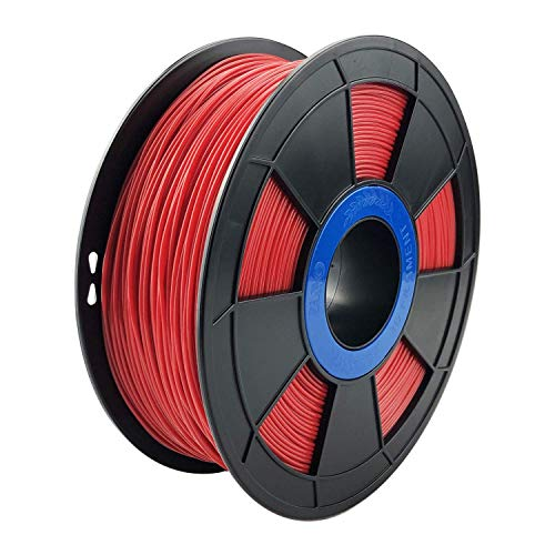 ZIRO 3D Printer Filament PLA PRO Basic Color Series 1.75MM 1KG(2.2lbs), Dimensional Accuracy +/- 0.03mm, Red