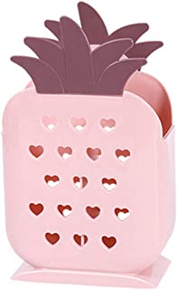 Fan-Ling Creative Kitchen Tableware Storage Basket Box,Chopsticks, Spoons, Fork Storage Tools, Plastic Chopsticks Spatula Spoon Hanging Basket Cage Holder Kitchen Hollow,Durable (D)