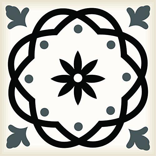 Juego de 24 pegatinas de vinilo para azulejos de baño y cocina, fáciles de aplicar, simplemente despegar y pegar decoración del hogar (4 x 4 pulgadas)