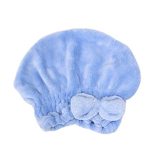 キャップ プール タオルキャップ タオル 帽子 吸水性抜群 プール お風呂 ドライキャップ 風呂上りシャワー 速乾 時短ドライ ヘアキャップ スイミング キッズ 子ども 女の子 大人女子 6color (ブルー)
