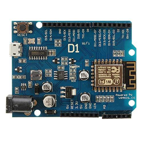 Placa de Desarrollo WiFi OTA D1 Ch340 WiFi R3 Esp8266 Esp-12E Placa WiFi (Multicolor)