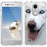 PaletteShield LG Aristo 2 Case [Husky Blep](Clear) Flexible Slim TPU Skin Phone Cover (fit LG Aristo 2/Tribute Dynasty)
