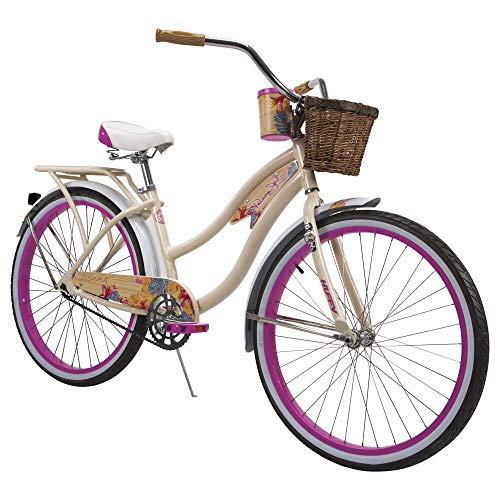 Huffy 26' Panama Jack Beach Cruiser Bike, Cream Vanilla