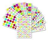 Maildor MALIDOR Initiale Geometrische, 1348Stück Aufkleber, Papier, Mehrfarbig, 16x 10,5x 0,4cm