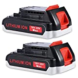 JYJZPB 2 Piezas 3.0Ah 18V/20V Batería de Repuesto para Black & Decker BL2018 LBXR20 LBXR2020-OPE LB20 LBX20 BL2018-XJ GKC1825L GTC1850L20 STC1820 Herramientas Eléctricas Inalámbricas