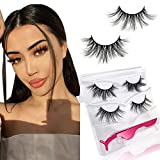 Doores Mink Eyelashes, Natural False Eyelashes 12mm-18mm 2 Styles 3D Mink Lashes Hand Made Strips Eyelashes Reusable Fake Lahses for Women