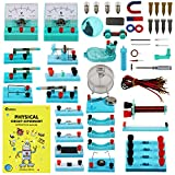 Emakefun STEM Physics Science Lab Basic Circuit Learning Starter Kit Electricity and Magnetism Experiment for Kids Junior Senior High School Students Electromagnetism Elementary Electronics
