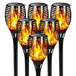 FLOWood Torche Solaire Imperméable Lumières Danse Flamme Vacillante Solaire Lumières Paysage Décoration Éclairage…