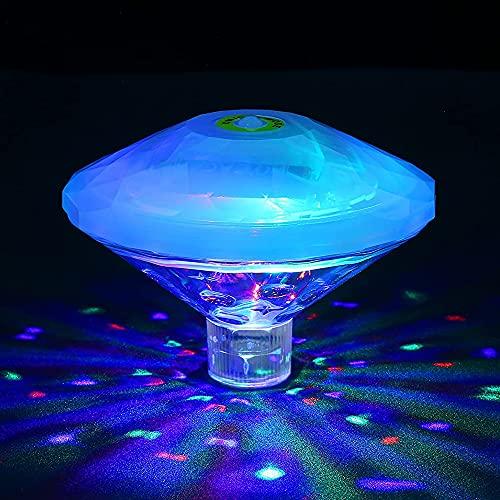 Sinvitron Poolbeleuchtung Unterwasser Led, Badewannen licht, Wasserdicht RGB-Poollichter mit 7 modi für Garten Springbrunnen Badewanne Disco-Partylichter