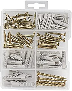 Screw and plug set Chipboard Works Anchor Screws and Anchor Set 98 Pcs Kit