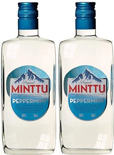 Original Minttu Mint Peppermint Pfefferminz Likör (2 x 0.5 l)