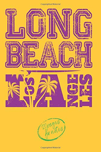 LONG BEACH LOS ANGELES - 120 pages for notes: NOTEBOOK SURFING JOURNAL for girls and boys with a passion for surfing | Quick and convenient ... 120 white lined pages - Handy size 6x9 pouce