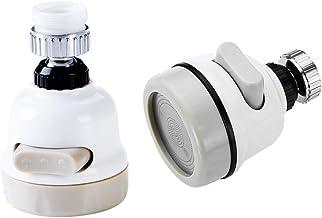 Kinteshun Tap Faucet Shower Head,360°Rotating Water-Saving Faucet Valve Booster Filter Universal Splash-Proof Nozzle Spray...