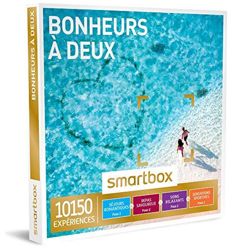 SMARTBOX - Coffret Cadeau couple - Bonheurs à deux - idée cadeau - 10150 expériences : 1 séjour ou 1 activité romantique pour 2