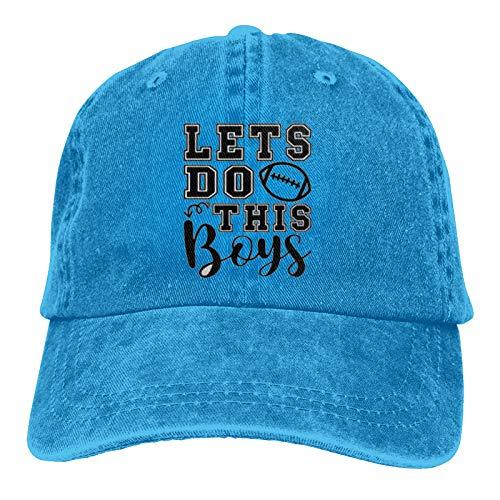 Jopath Lets Do This Boys Football Mom Dad-1 Gorra de béisbol para hombres y mujeres ajustable Snapback sombrero