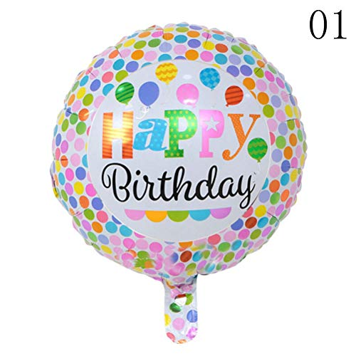 Ballonnen accessoires - Baby Shower 5 stuks ballonnen helium ballonnen Party Decoration 18 inch Happy Birthday Foil Balloons - Accessoires ballonnen Balloons Ballonnen Accessories Birthday Year Party Foil 1