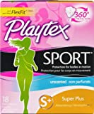 Playtex Femcare Sport Unscented Tampons - Super+: 18 Count