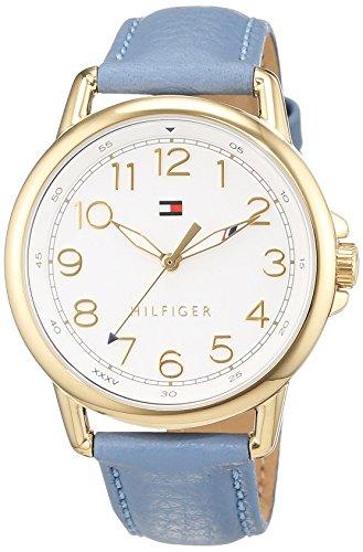 Tommy Hilfiger Damen Analog Quarz Uhr mit Leder Armband 1781653