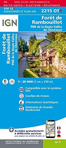 Forêt de Rambouillet, PNR de La Haute Vallée de Chevreuse : 1/25 000, plastifiée-résistante