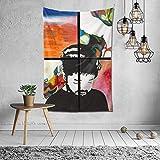 Hdadwy Nujabes Tapisserie 60 X 40 Pouces Doux et Durable Suspendu Chambre Tapisserie Chambre dortoir décoration de la Maison Tapisserie
