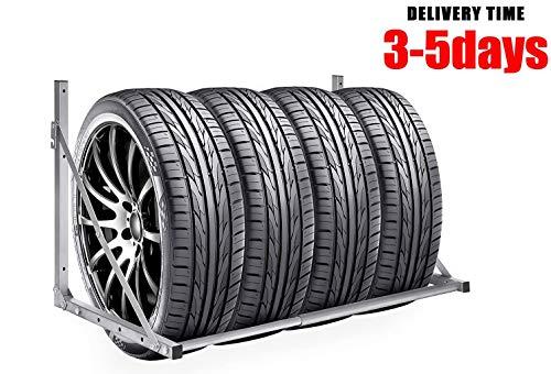 Mulple Reifenständer Reifenhalter Wandhalterung Klappbar Wandmontage Felgenhalter Reifenwandhalter Felgenständer Reifenständer für Lagerung von Reifen 300lbs