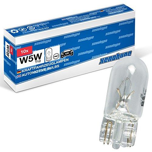 Preisvergleich Produktbild 10x W5W XENOHYPE Premium T10 12 V 5 Watt Glassockellampe Kennzeichenbeleuchtung Kofferraumbeleuchtung Innenraumbeleuchtung Standlicht
