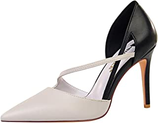 Melady Women Elegant Dress Shoes D Orsay Stiletto Heels