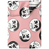 Lex Altern Laptop Sleeve Case for MacBook Air 13 Mac Pro 16 15 Retina HP Dell ASUS Acer Lenovo 11 12 14 17 inch 2020 Kawaii Hello Panda Animal Pink Pattern Cute Bear Women Leather Cover Protective