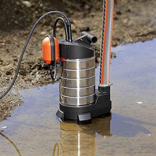 GARDENA 01802-61 Schmutzwasser-Tauchpumpe 20000 inox, 1050 W, türkis, schwarz, Orange
