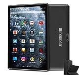 Tablet 10,1 Pulgadas, DUODUOGO Android 9.0 Tablet PC con 3GB RAM 32/128 GB ROM, Quad-Core 1,5 GHz, Dual 4G SIM, WiFi, Cámara Dual 5MP 8MP, Certificación Google gsm, GPS, Netflix Negro