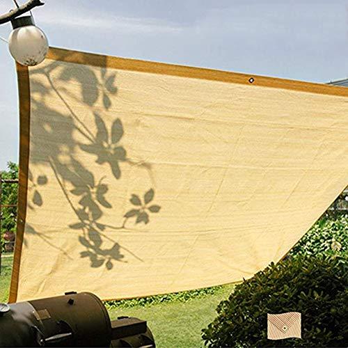 Toldos Telas Paño de Sombra Beige para Áreas de Barbacoa en el Patio del Jardín, Bloque de Rayos UV Sun Shade Sail Edge con Ojales, 100/200/300/400cm de Ancho (Size : 2×3 m(6.56×9.84 ft))