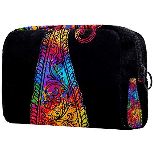 Shiiny Bright Element Paisley Mehndi - Bolsa de cosméticos para mujer, adorable, espaciosa, bolsas de maquillaje, bolsa de aseo de viaje, accesorios organizador de regalos