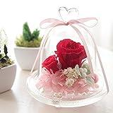 プリザーブドフラワー 枯れない花 ドーム ガラスドーム ローズ バラ カーネーション プリザーブド アレンジ 花 お誕生日 お祝い 結婚祝い 結婚記念日 Alice Flower