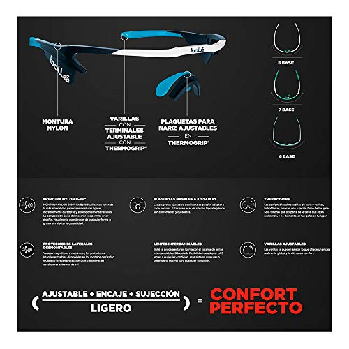Product Image 3: bollé Sport Sunglasses Lightshifter Matte White Phantom Court