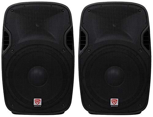 "(2) Rockville SPGN158 15"" Passive 1600W DJ PA Speakers Lightweight Cabinet 8 Ohm"