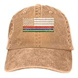 WH-CLA Snapback Hat Delgado Rojo Azul Verde Línea Bandera Americana Vaquero Clásico De Compras Mujeres Pescando Sombrero De Papá Personalizado Gorra De Béisbol para Hombres Gorra De Béis