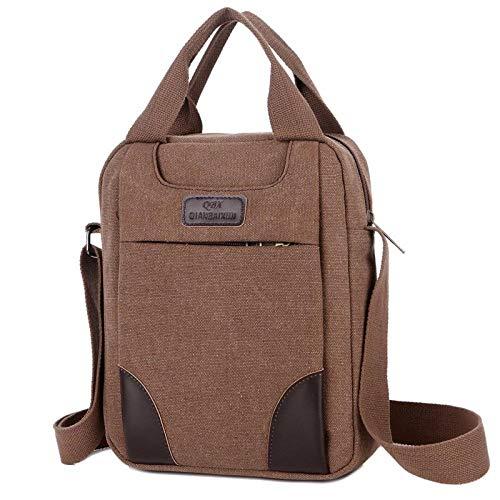 BeniCanvas men's single shoulder messenger handbag casual-Coffee color